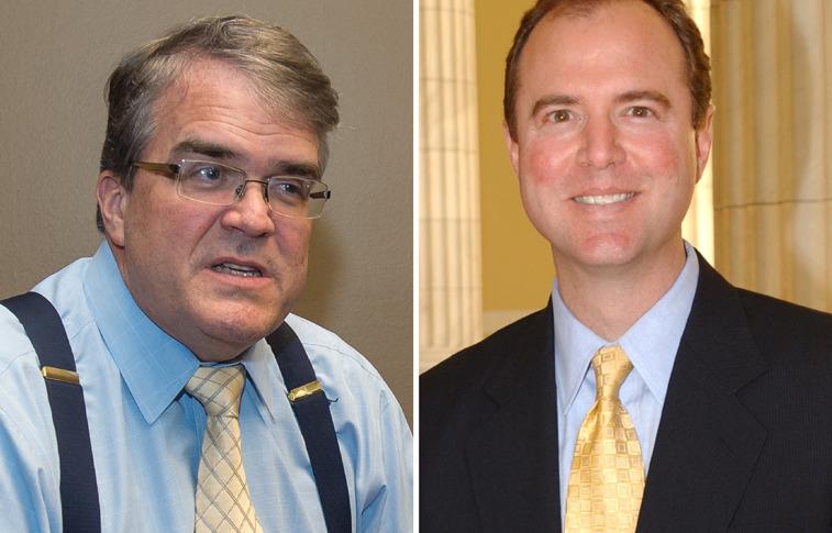 Rep. John Culberson (R-Texas) and Rep. Adam Schiff (D-Calif.). Credit: SpaceNews/Kate Patterson (left), Adam Schiff