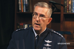 U.S. Air Force Gen. John Hyten. Credit: SpaceNews video capture