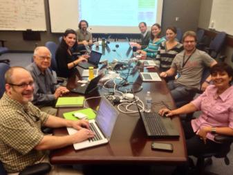 The Kepler/K2 team at NASA Ames at their laptops for a Reddit Ask Me Anything session in October 2014. Credit: Kepler Mission via Facebook