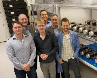 The Planet Labs management team, as well as company board member Steve Jurvetson. Credit: Steve Jurvetson