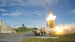 THAAD missile interceptor