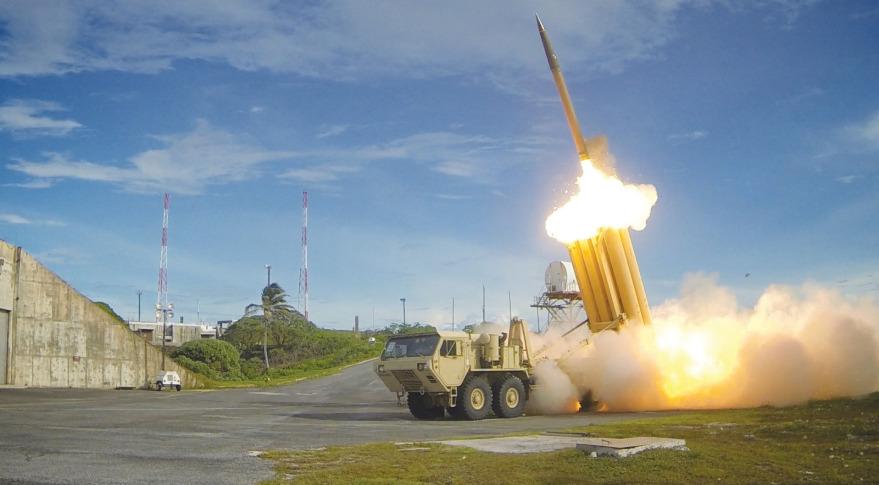THAAD missile interceptor