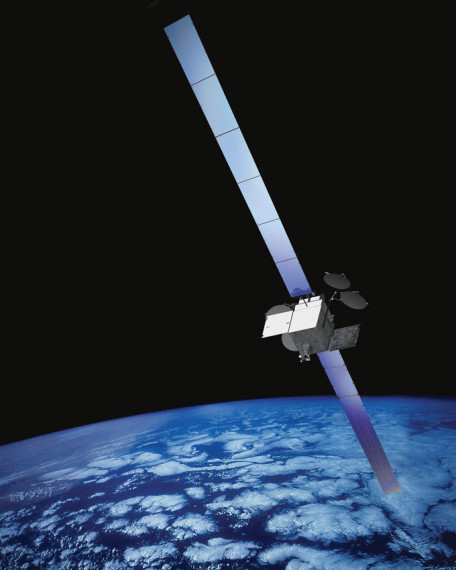 Boeing illustration of its 702-HP satellite model