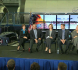 NASA's Stephanie Schierholz introduces the panel of Johnson Space Center Director Dr. Ellen Ochoa, seated, left, NASA Administrator Charles Bolden, Commercial Crew Program Manager Kathy Lueders, Boeing's Jon Elbon, SpaceX's Gwynne Shotwell and NASA astronaut Mike Fincke. Credit: NASA TV