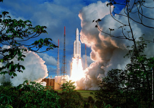 Ariane 5 rocket lifts off from Kourou on June 30, 2009. Credit: Arianspace