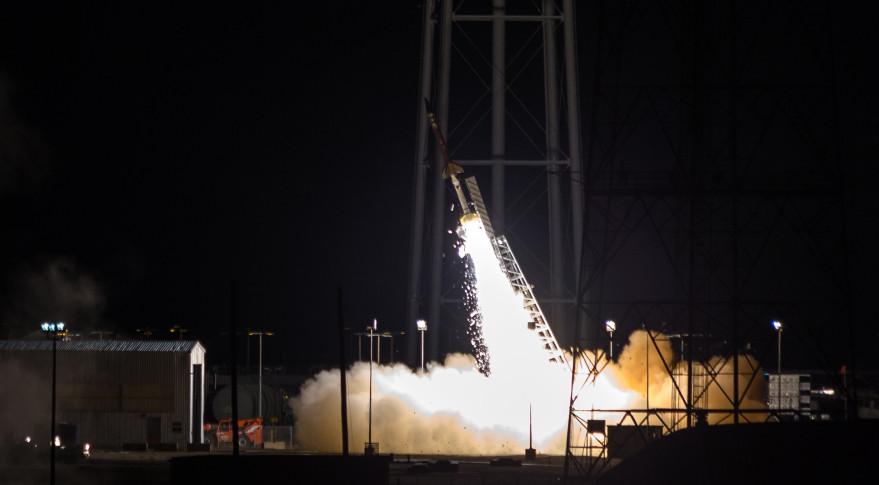 FTX19 short-range ballistic missile launch