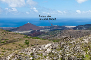 Site of NASA's Meter-Class Autonomous Telescope (MCAT) on on Ascension Island. Credit: NASA