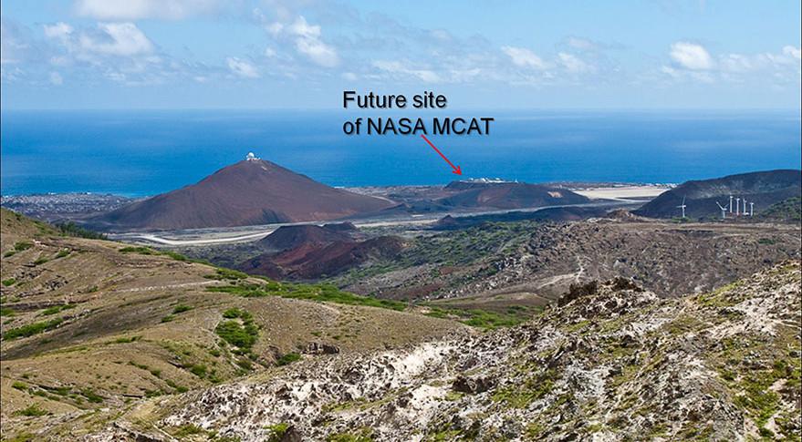 Site of NASA's Meter-Class Autonomous Telescope (MCAT) on on Ascension Island. Credit: NASA