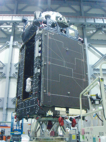 Quasi-Zenith satellite. Credit: JAXA/Mitsubishi Electric Co.