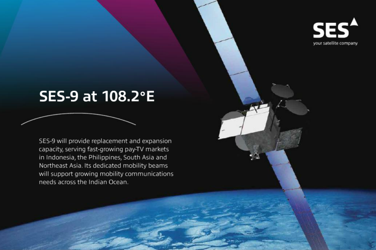 Image from an SES-9 fact sheet