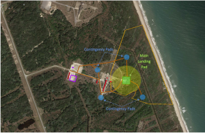 SpaceX_Launch Complex 13_landing pad SpaceX is planning a main landing pad as well as four contingency landing pads at Launch Complex 13 at Cape Canaveral Air Force Station, according to a June 2014 environmental impact statement. Credit: Gator Engineering & Aquifer Restoration, Inc.