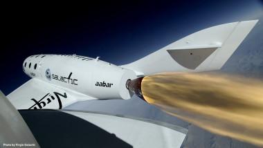 SpaceShipTwo powered test flight