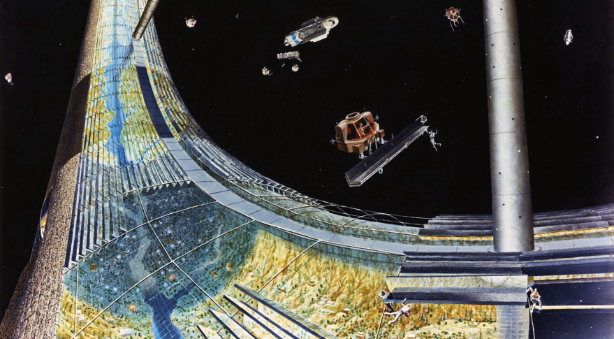 A Torus rim, one of the three space colony designs conceptualized at NASA Ames in the 1970s. Credit: NASA Ames Research Center/Don Davis