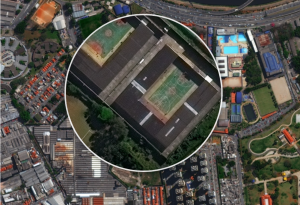 An interactive graphic on DigitalGlobe's website illustrates how WorldView-3's 30-centimeter resolution imagery compares to 70-centimeter imagery. Credit: DigitalGlobe screen capture