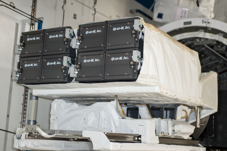 One of NanoRacks' cubesat dispensers after repair. Credit: NanoRacks
