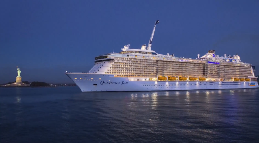 Quantum of the Seas offers passengers O3b-delivered satellite broadband. Credit: Royal Caribbean video grab