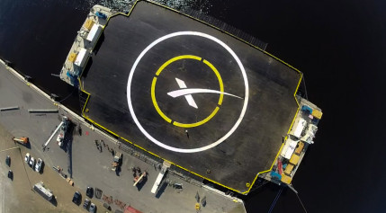 SpaceX's Autonomous Spaceport Drone Ship in port. Credit: SpaceX