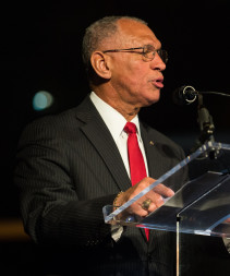 NASA Administrator Charles Bolden, shown here speaking March 3, 2015 at the National Air and Space Museum in Washington. Credit: NASA/Joel Kowsky