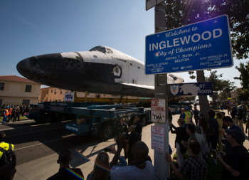 Space Shuttle Endavour in Inglewood