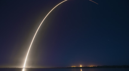 A Falcon 9 v1.1 rocket lofts a pair Boeing-built, all-eletric satellites for ABS and Eutelsat. Credit: SpaceX
