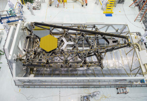 NASA's James Webb Telescope's test backplane and mirrors