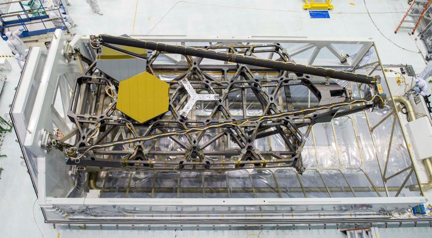 NASA's James Webb Telescope's test backplane and mirrors