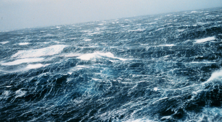 North Pacific storm waves as seen from the M/V NOBLE STAR. Credit: NOAA