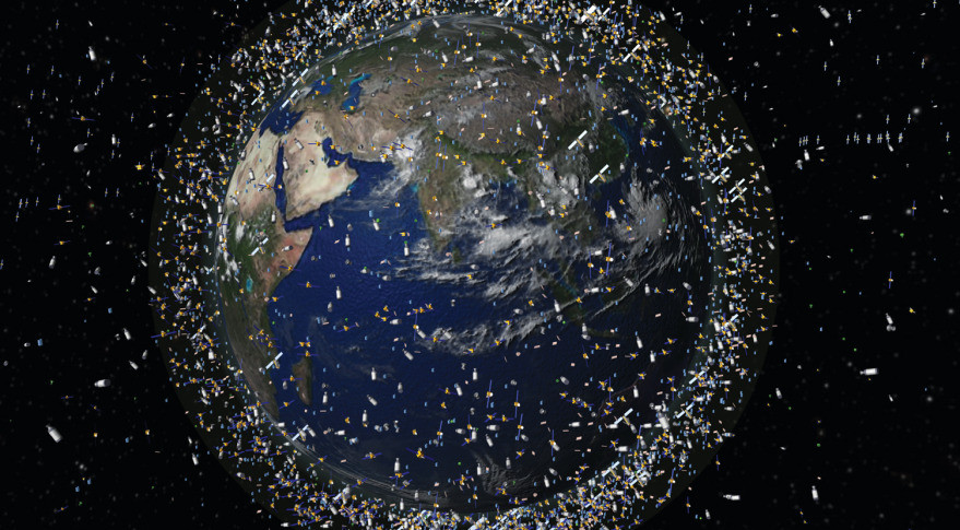 70% of all catalogued objects are in low Earth orbit, as of Oct. 4, 2008, which extends to 2000 km above the Earth's surface. Note: The debris field shown in the image is an artist's impression based on actual data. However, the debris objects are shown at an exaggerated size to make them visible at the scale shown. Credit: ESA