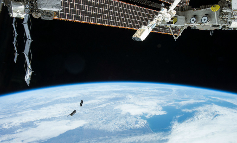 Planet Labs Flock-1 satellites