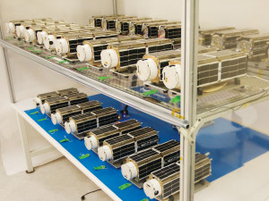 Planet Labs Flock 1 satellites