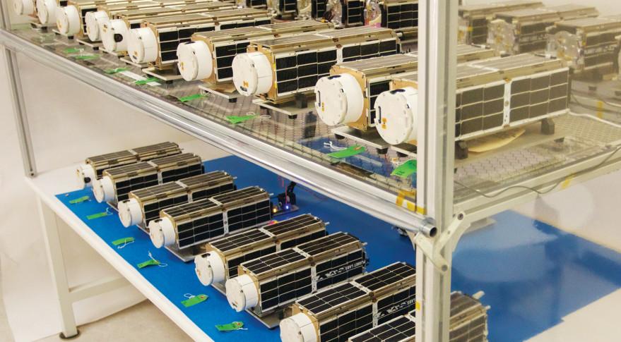 Planet Labs Flock 1 satellites