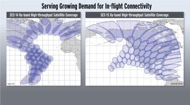 SES in-flight satellite coverage