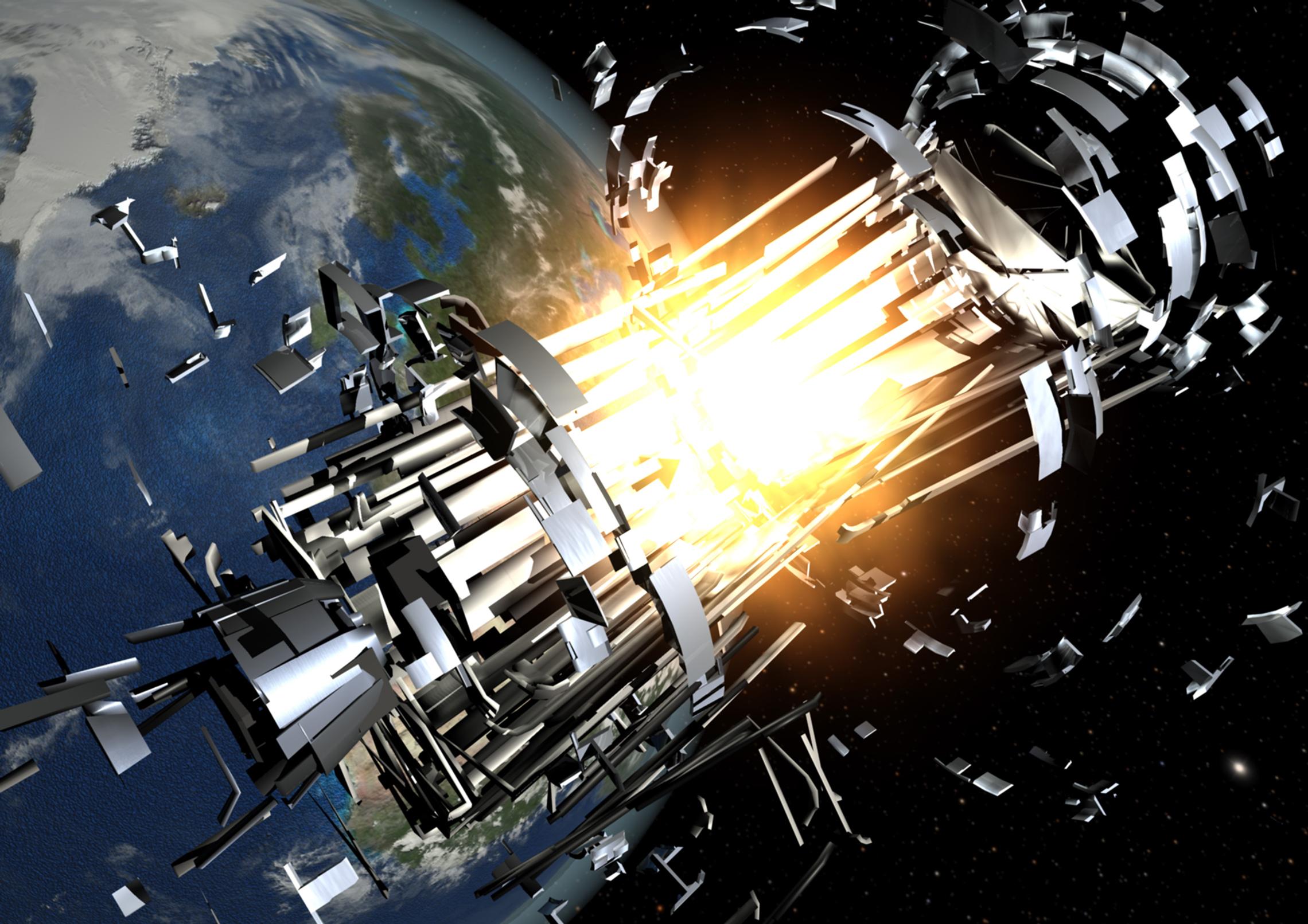 satellite explosion