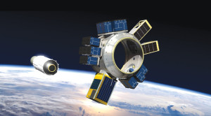 An artist's concept of a Spaceflight Sherpa tug capable of carrying 87 small satellites into low Earth orbit. Credit: Spaceflight Industries
