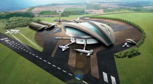 An artist's concept of a U.K. commercial spaceport. Credit: UK Space Agency