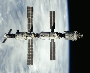 From left to right, Russia's Zvezda Service Module and Zarya FGB attached to the U.S. Unity module in 2000. Credit: NASA