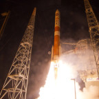 Although ULA is phasing out its single-stick Delta 4 rocket (above), the company's Chief Executive Tory Bruno said the Delta 4 Heavy variant will be available as long as the U.S. Air Force wants it. Credit: ULA