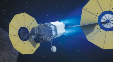 Asteroid Redirect Vehicle Travels to Lunar Orbit
