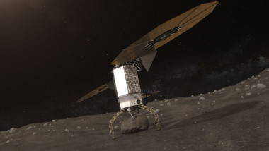Once the boulder is secured, the Capture and Restraint System legs will provide a mechanical push off that will separate the boulder from the surface and provide an initial ascent without the use of thrusters to limit the amount of debris created. Credit: NASA
