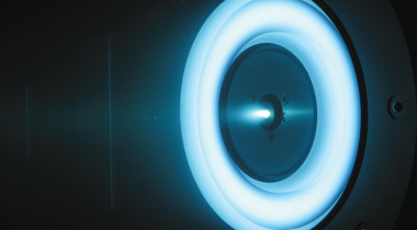 A solar-electric propulsion thruster in development at NASA's Jet Propulsion Laboratory, is being considered as part of the Asteroid Redirect Mission. Credit: NASA/JPL-Caltech