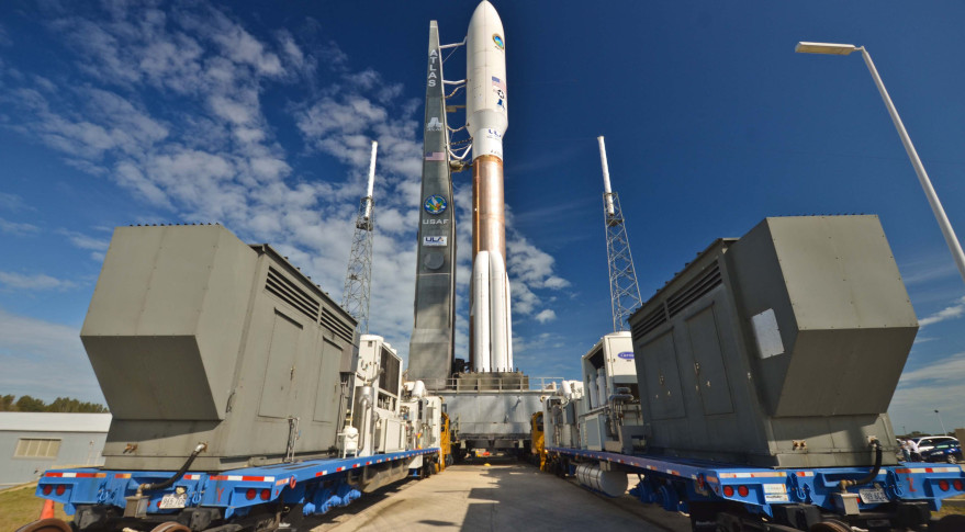 MUOS-1 attached to Atlas 5