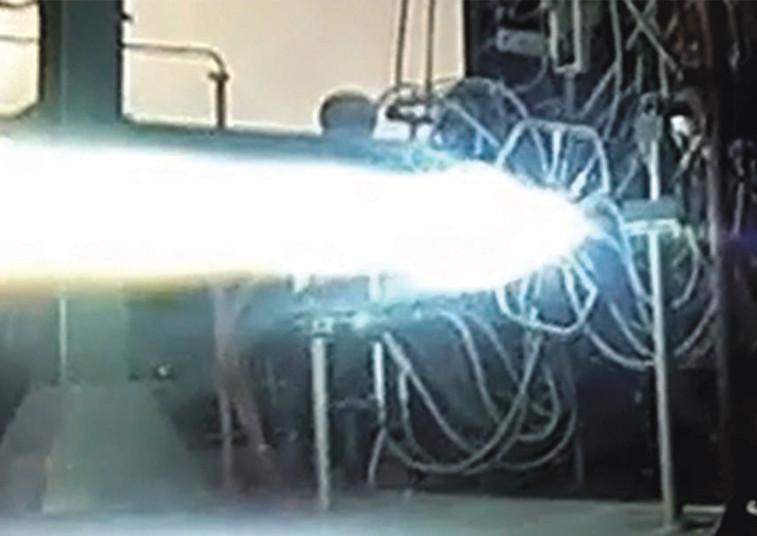 BE-4 rocket testing