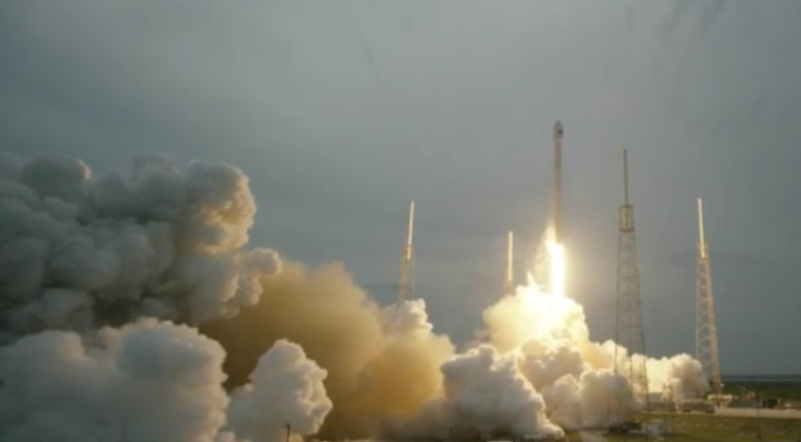 a spacex falcon 9 rocket lifting off april 27 carrying turkmenistan s first satellite the thales