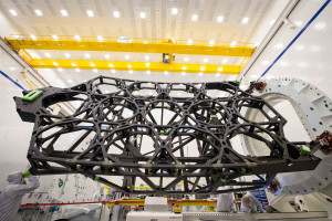 Backplane of James Webb Space Telescope