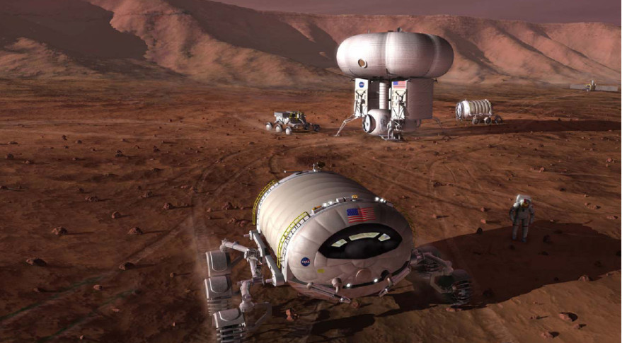 manned mission to Mars concept