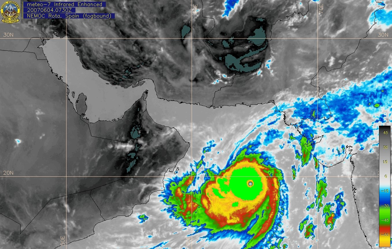 Meteosat-7 Indian Ocean imagery