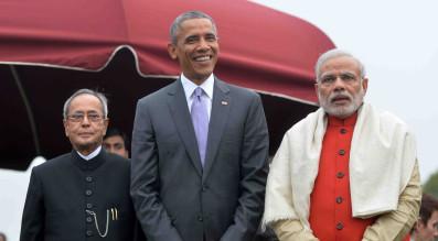 Mukherjee, Modi, Obama