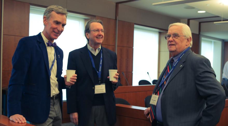 Bill Nye, Scott Hubbard and John Logsdon