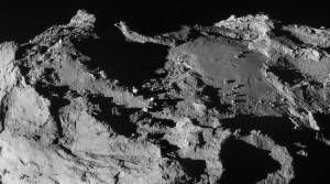Rosetta image of Imhotep region on Comet 67P/Churyumov-Gerasimenko
