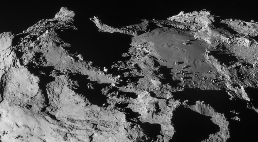 Rosetta image of Imhotep region on Comet 67P/Churyumov-Gerasimenko